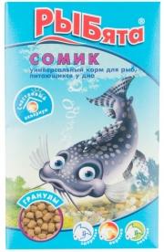 """Рыбята - корм для донных рыб """"Сомик"""" в гранулах (35 г)"""
