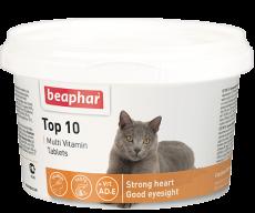 "Beaphar Top 10 for Cats - мультивитаминная добавка ""Топ 10"" для кошек (180 таб.)"