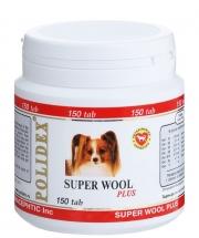 Polidex Super Wool Plus - Кормовая добавка для собак для кожи и шерсти (150 таб.)