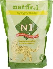 N1 Naturel - наполнитель кукурузный комкующийся (4,5 л)