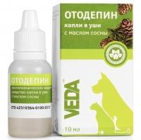 Veda - капли в уши с маслом сосны Отодепин (10 мл)