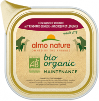 Almo Nature Bio Organic - паштет для собак с говядиной и овощами