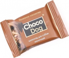 Veda Choco Dog - лакомство шоколад для собак молочный (15 г)
