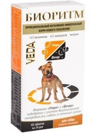 Veda - Биоритм витаминно-минеральный комплекс для собак средних пород (10-30 кг) (48 таб.)