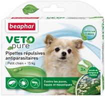 Beaphar капли Био от блох, клещей и комаров для собак мелких пород (3 пипетки по 0,1 мл)