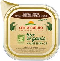 Almo Nature Bio Organic - паштет для собак с телятиной и овощами
