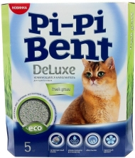 """Pi-Pi Bent DeLuxe Fresh grass - наполнитель комкующийся """"Свежая трава"""" (коробка - 5 кг)"""