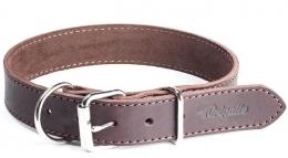 """Gripalle - Ошейник для собак из натуральной кожи """"Дакс"""" (2,5 x 35 см) стальная фурнитура, коричневый"""