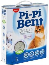 """Pi-Pi Bent DeLuxe Clean cotton - наполнитель комкующийся """"Чистый хлопок"""" (коробка - 5 кг)"""