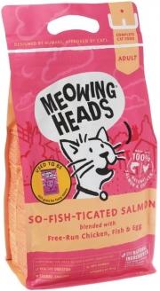 """Meowing Heads So-fish-ticated Salmon - сухой корм для кошек """"Фиш-гурман"""" с лососем, курицей и рисом"""