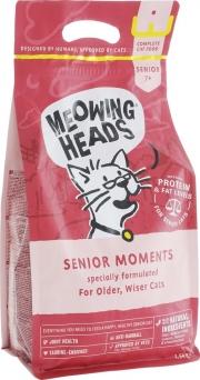 """Meowing Heads Senior moments - сухой корм для кошек старше 7 лет """"Мудрые года"""" с лососем и яйцом"""