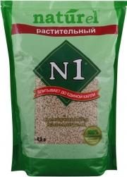 N1 Naturel - наполнитель растительный комкующийся (4,5 л)