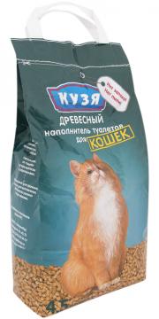 Кузя - наполнитель древесный впитывающий для кошек (4,5 л)