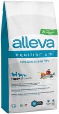 Alleva Equilibrium Sensitive Ocean Fish Puppy All Breeds - сухой корм для щенков всех пород с океанической рыбой