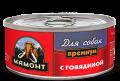 """Мамонт Премиум - влажный корм для собак """"Говядина, фарш"""" (100 г)"""