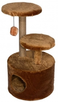 Дарэлл - Домик-когтеточка 3-х уровневый круглый, джут (44 x 44 x 76 см)