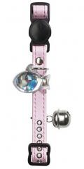 Hunter Smart - ошейник для кошек со стразами Modern Luxus, кожзам (светло-розовый)