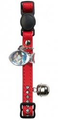 Hunter Smart - ошейник для кошек со стразами Modern Luxus, кожзам (красный)