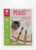 Ms. Kiss - Капли, отпугивающие блох и клещей для кошек весом более 2 кг (3 пипетки по 2,5 мл)