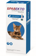 Бравекто капли спот-он от блох и клещей для кошек 2,8 - 6,25 кг (250 мг)