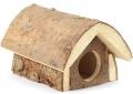 Гамма - Домик-избушка для грызунов из неокоренного дерева (12 x 16 x 10 см)