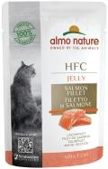 Almo Nature HFC Jelly - паучи для кошек с лососем в желе (55 г)