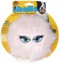 """Silly Squeakers iBall Medium Pink - Игрушка-пищалка для собак """"Пушистый мяч с глазами"""" средний, розовый (10 см)"""