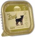 Araton Puppy - безглютеновые консервы для щенков с уткой (150 г)