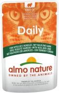 Almo Nature Daily - паучи для кошек с телятиной и ягненком (70 г)