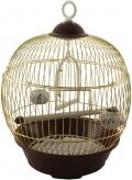 Triol - Клетка для птиц круглая укомплектованная золото (23BG)