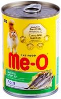 Me-O Adult - консервы для кошек с сардинами в желе (400 г)