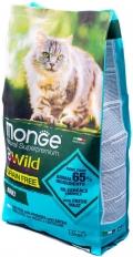Monge BWild Grain Free - сухой беззерновой корм для кошек с треской, картофелем и чечевицей