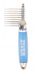 Ziver - колтунорез прямой 9 лезвий с гелевой ручкой