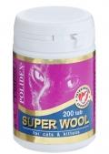 Polidex Super Wool - Кормовая добавка для кошек для кожи и шерсти (200 таб.)