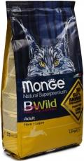 Monge BWild Hare - сухой корм для взрослых кошек с мясом зайца