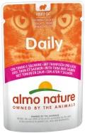 Almo Nature Daily - паучи для кошек с тунцом и лососем (70 г)