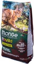 Monge BWild Grain Free - сухой беззерновой корм для крупных кошек с мясом буйвола