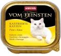 Animonda Vom Feinsten Castrated - консервы для кастрированных кошек с индейкой и сыром (100 г)