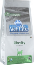 """Farmina Vet Life Cat Obesity - сухой диетический корм для взрослых кошек """"Снижение излишнего веса"""""""