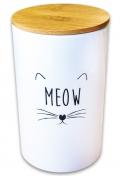 КерамикАрт MEOW - керамический бокс для хранения корма для кошек (1700 мл)