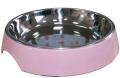 Super Design - миска на меламиновой подставке для кошек широкая (250 мл) розовая пудра