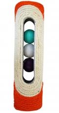N1 - когтеточка с мячиками внутри, сизаль (28 x 6 x 6 см)