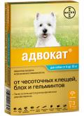 Bayer Адвокат 100 - Капли для собак 4 до 10 кг (3 по 1 мл)