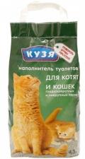 Кузя - наполнитель для котят и короткошерстных кошек (4,5 л)