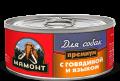 """Мамонт Премиум - влажный корм для собак """"Говядина с языком, фарш"""" (100 г)"""