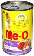 Me-O Adult - консервы для кошек с морепродуктами в желе (400 г)