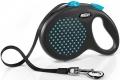 Flexi Design - рулетка L (до 50 кг) 5 м лента, горох (черный/голубой)