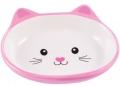 """КерамикАрт - керамическая миска для кошек """"Мордочка кошки"""" (160 мл) розовая"""
