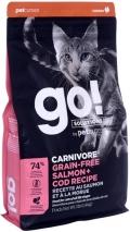 Go! Solutions Carnivore - сухой беззерновой корм для котят и кошек с лососем и треской