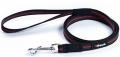 Gripalle - Прорезиненный нейлоновый поводок для собак (2 x 150 см) стальная фурнитура, черный с красной полосой
